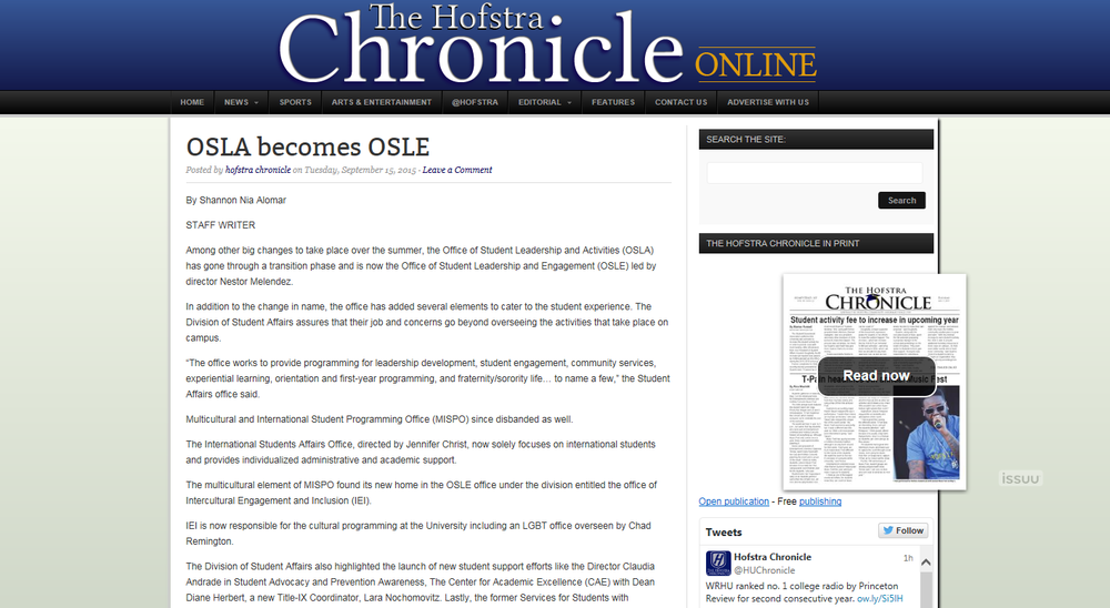 Click here to read the article on the Chronicle site.