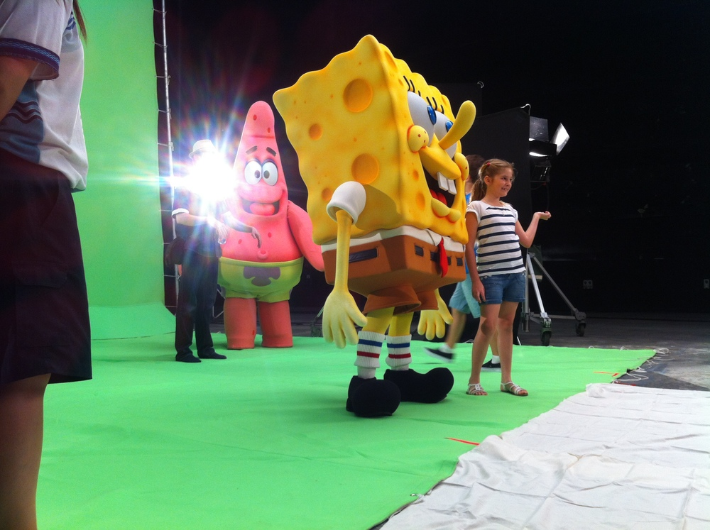 I had 2 fun days of working with these guys! Sponge Bob and Dora for their 2012 Summer campaign. Film at the Gold Coast Studios