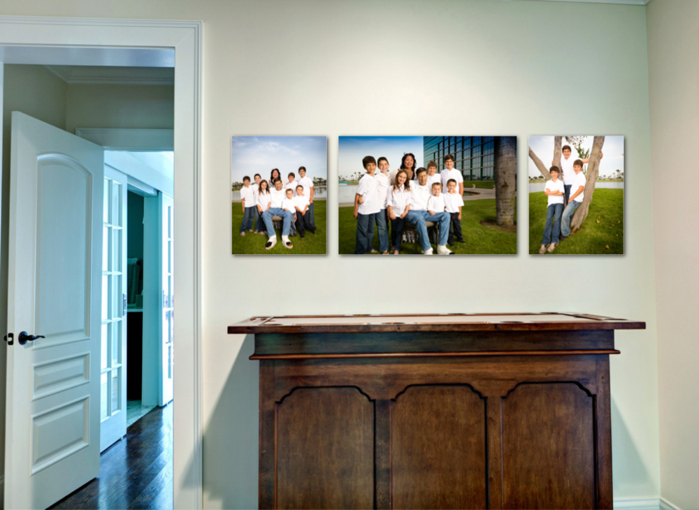 Example with 3 Canvas prints on your wall