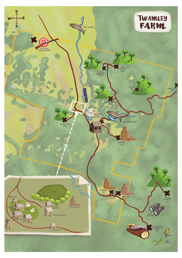Twamley Farm Map