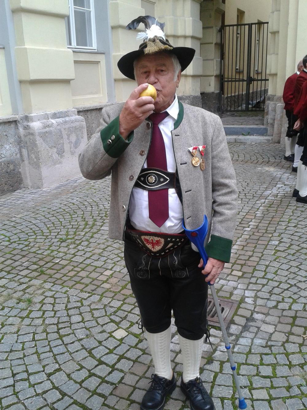 Unserem Werner schmeckt die Blasmusik immer noch ganz guat!