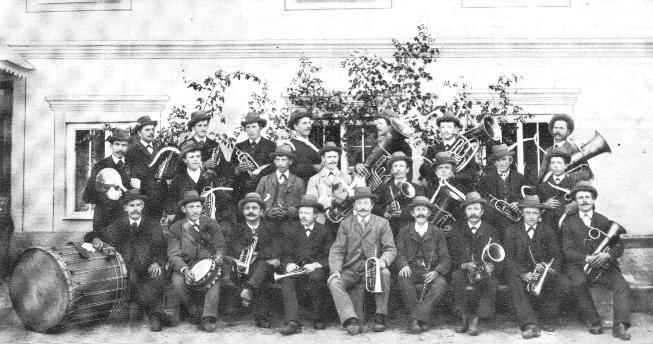 Musikkapelle im Jahre 1898