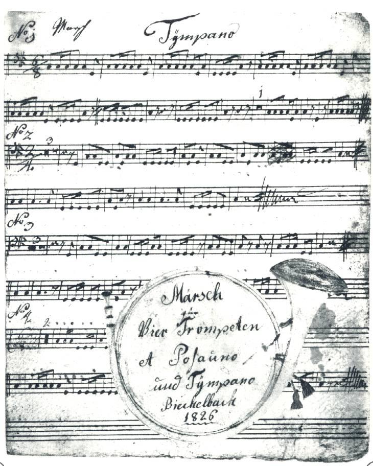 Noten aus dem Gründungsjahr 1826
