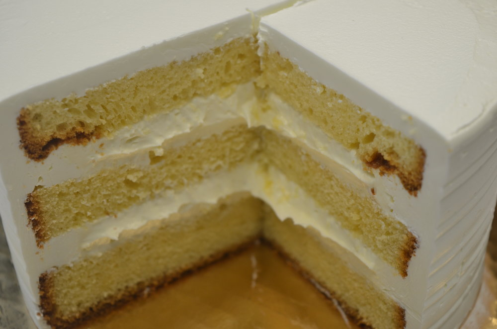 Yellow Cake with Bavarian Crème