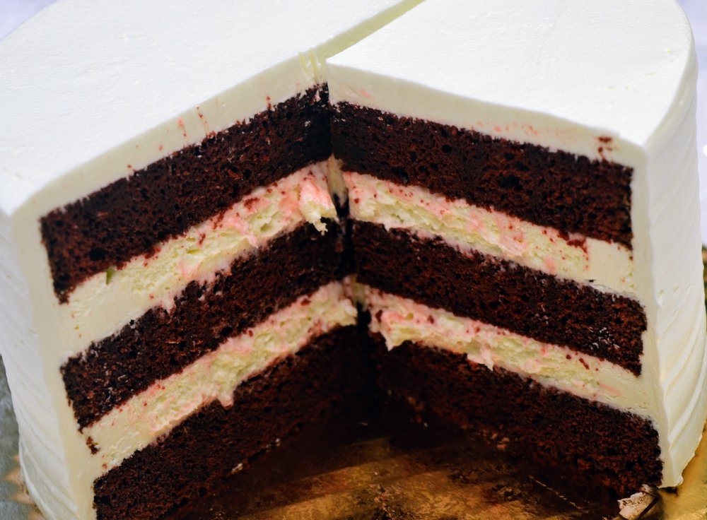 Red Velvet Cake with Bavarian Crème Filling