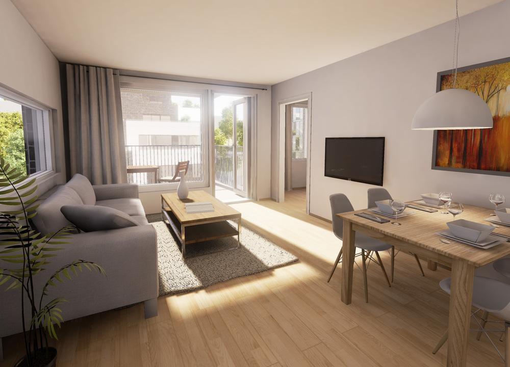 Slik ser leiligheten ut gjennom 3D-brillene!