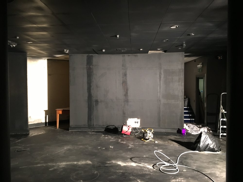 The first paint layer for the theatre