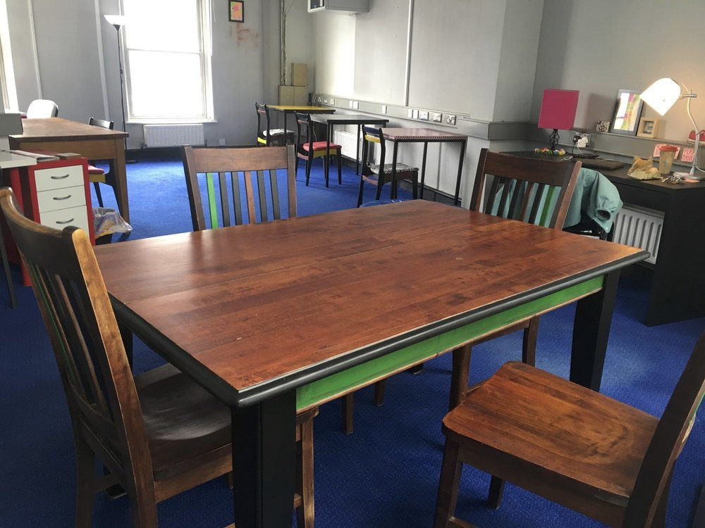 The Back Bar shared office gets its own meeting table