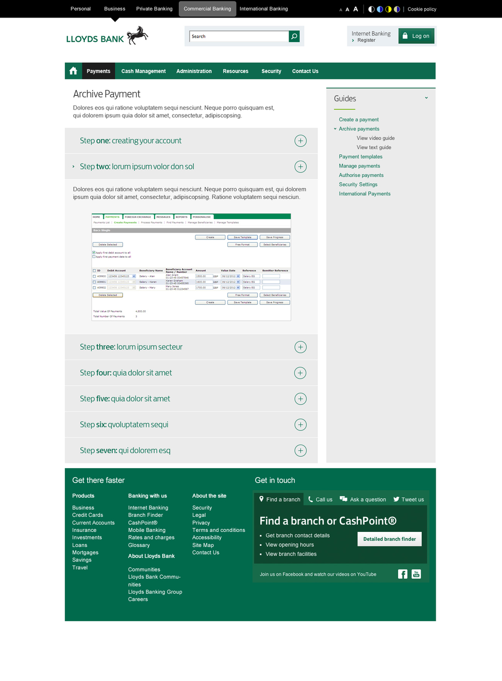 lloyds bank support centre responsive design — michael ruocco ...
