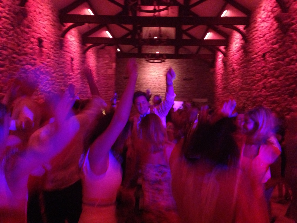 Almost festival like dancing and partying at the wedding of Pete & Katherine Waite, Lancashire July 13th.