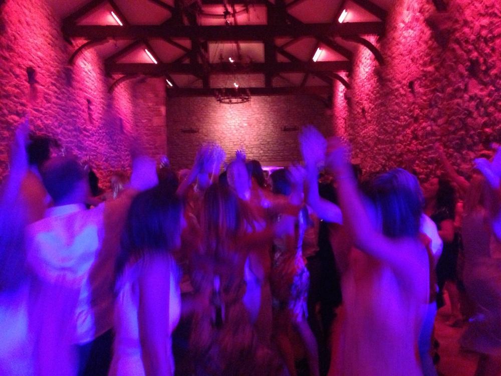 Jumping crowd at Pete @ Katherine Waite's wedding!