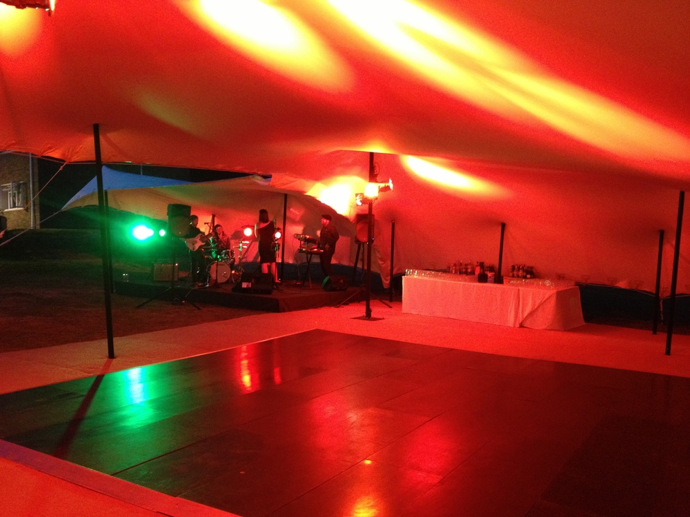Finished setting up at the 'vikings' barracks in wiltshire for the officers summer ball, July 27th