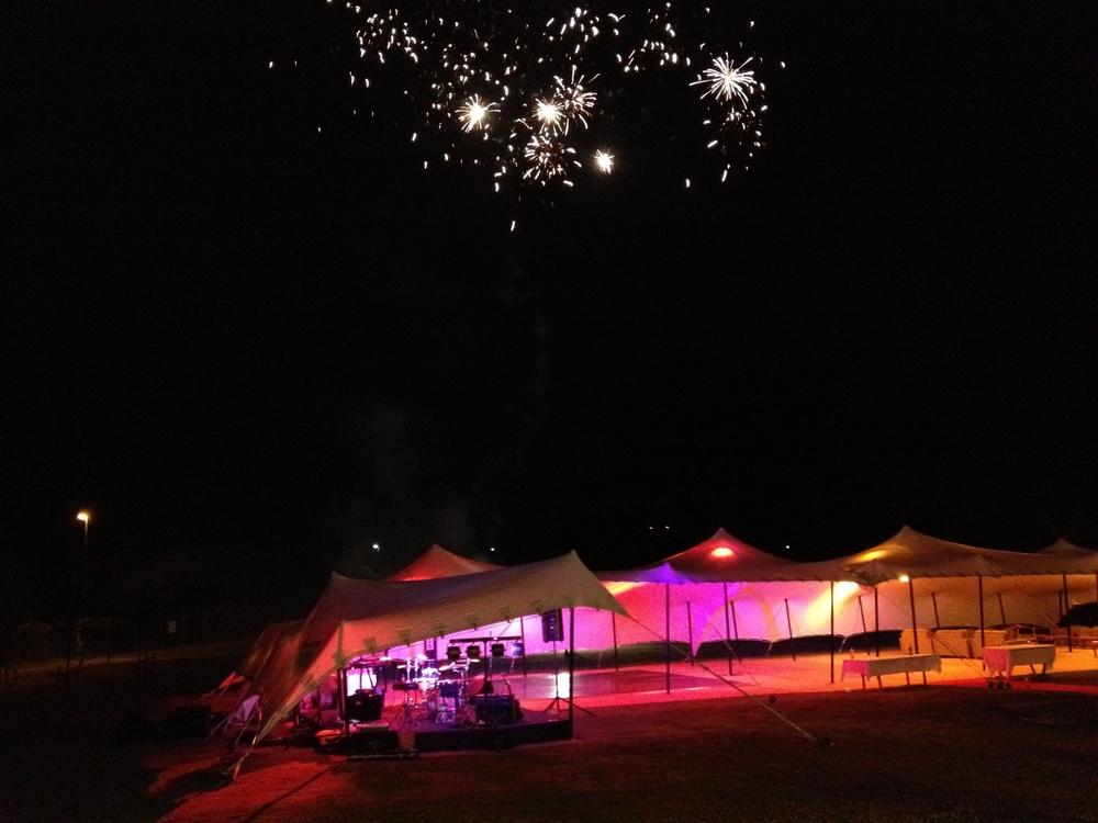 Half-time Fireworks display