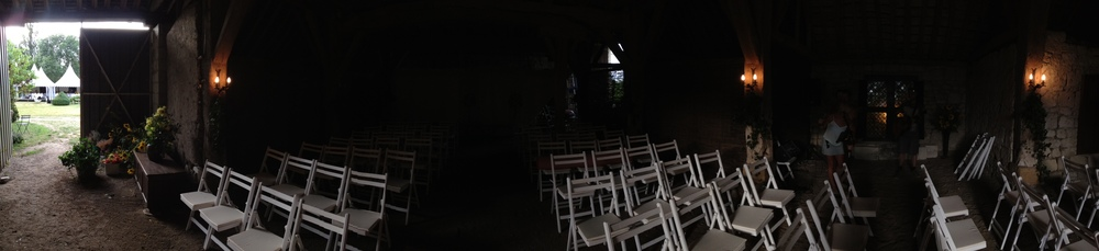 Barn turned chapel!