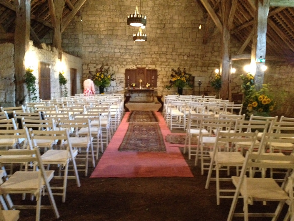 Barn turned chapel!