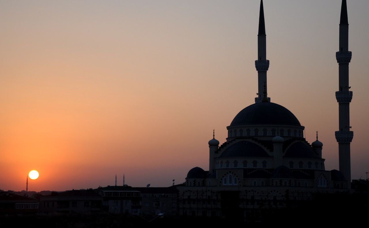 Sunset in Istanbul, Turkey.