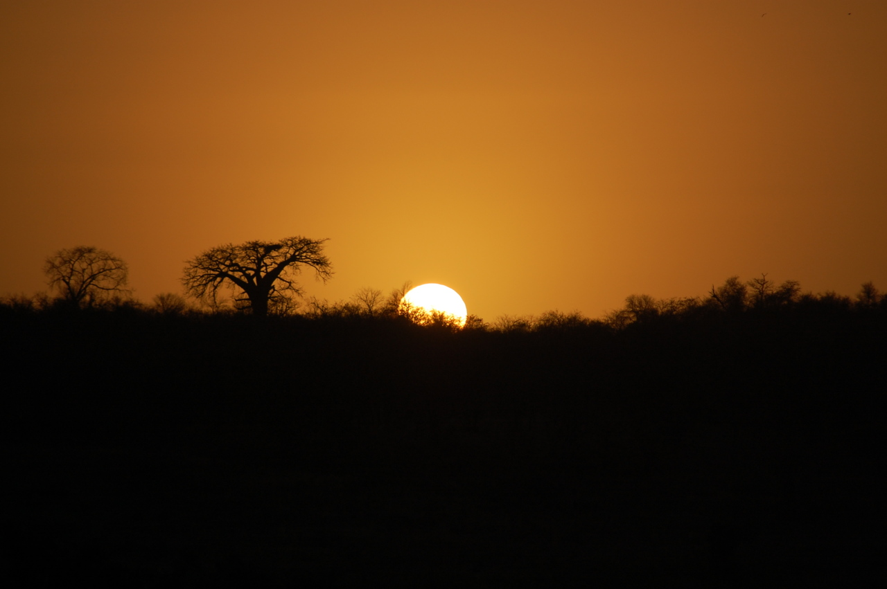 Sunset in South Africa.