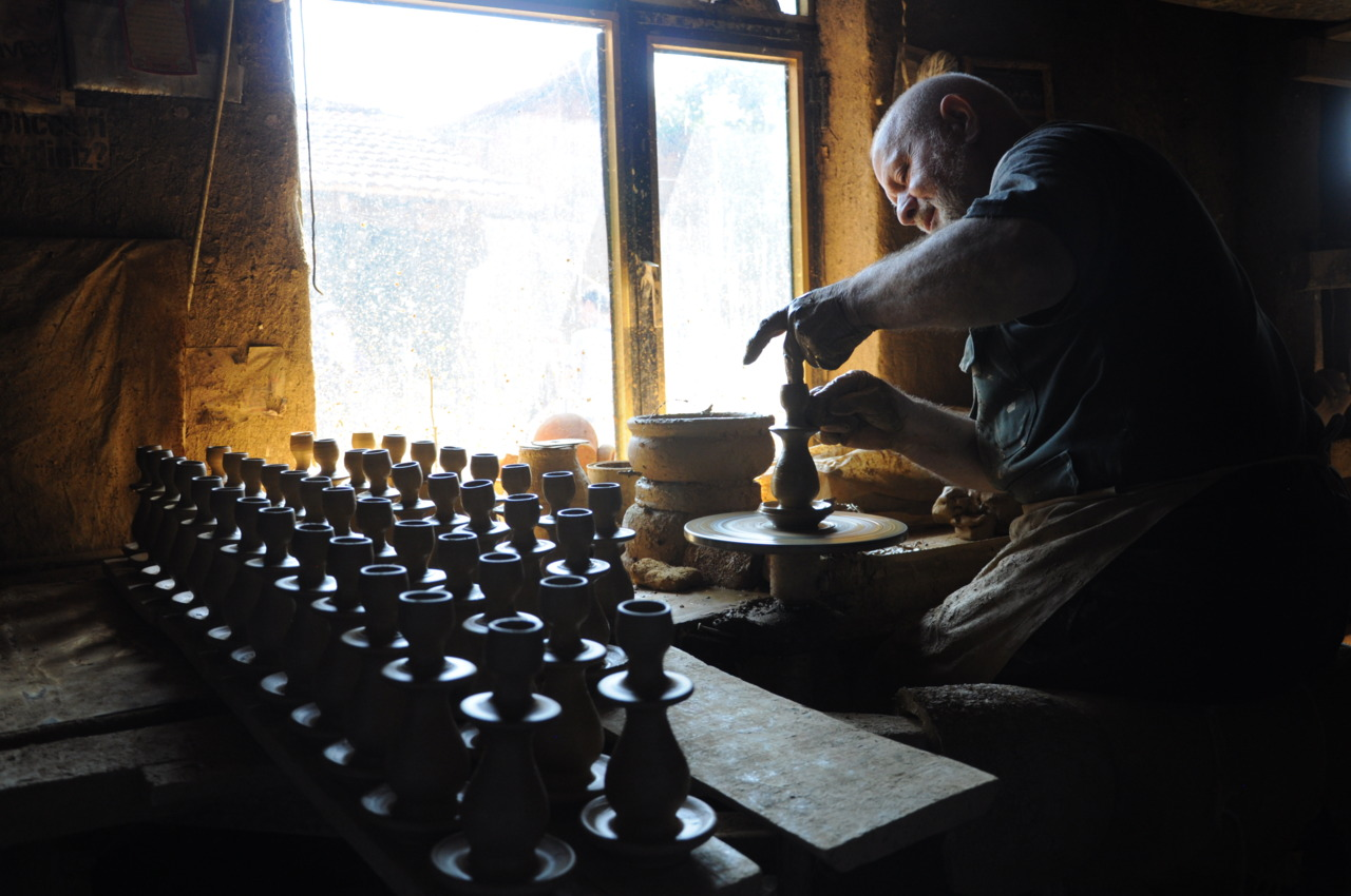 Potter at work in Turkey.