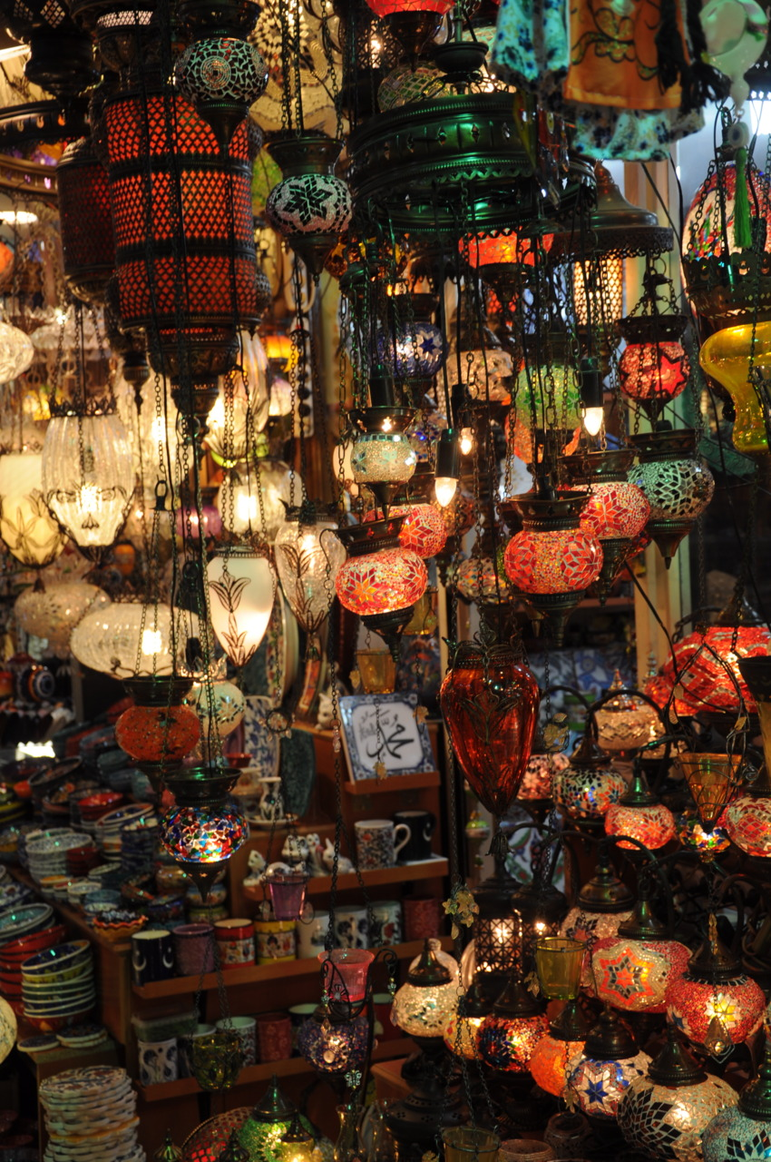 Lights at the Grand Bazaar in Istanbul, Turkey
