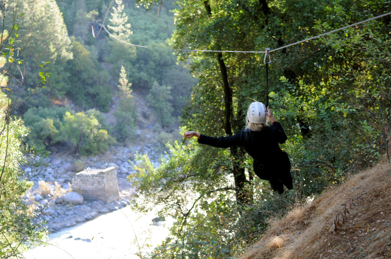 Me ziplining through the Andes Mountains in Chile.