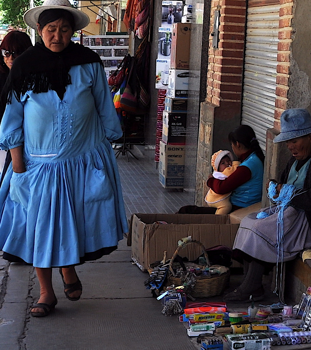 In the streets of Bolivia.