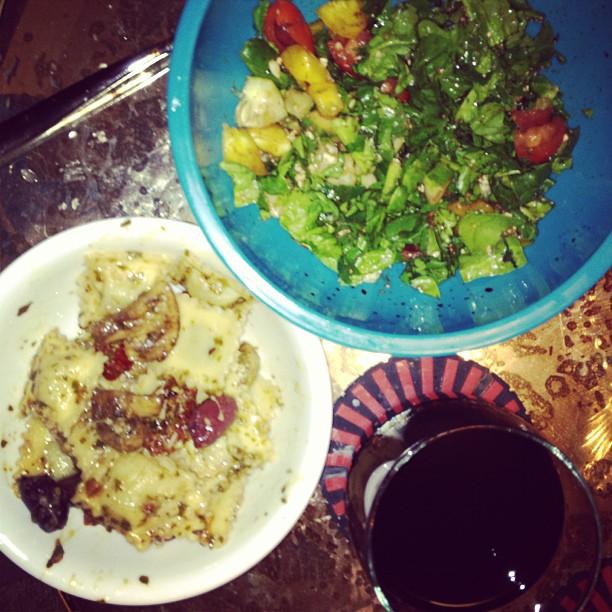 Una buona vita - pasta, insalata e vino