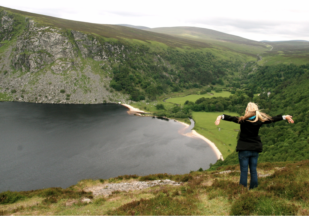 Above Guiness Lake in Ireland