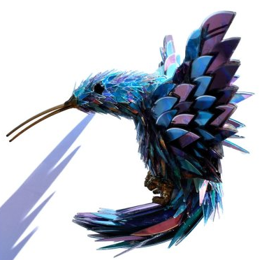 Sean Avery uses old CDs to make beautiful creations!  http://huff.to/A8pPL5
