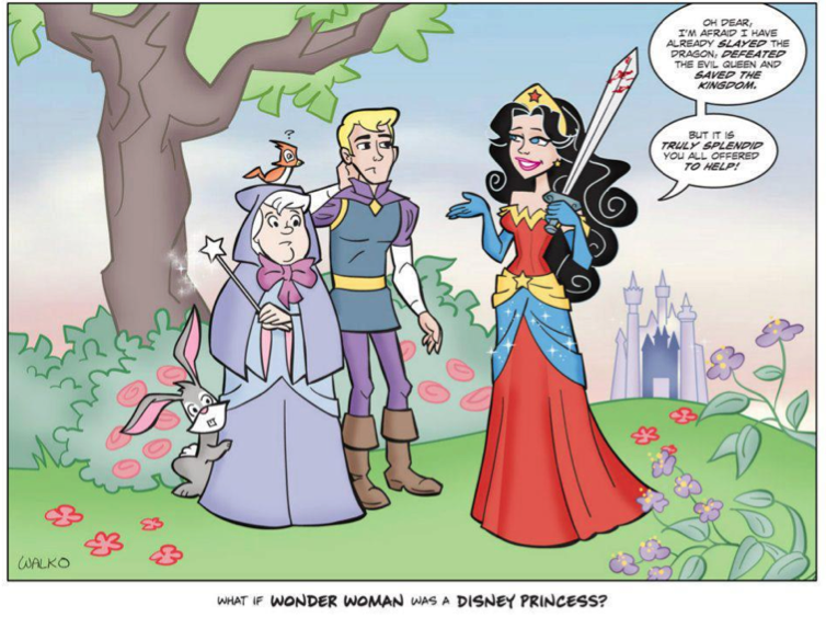 If Wonder Woman were a Disney Princess