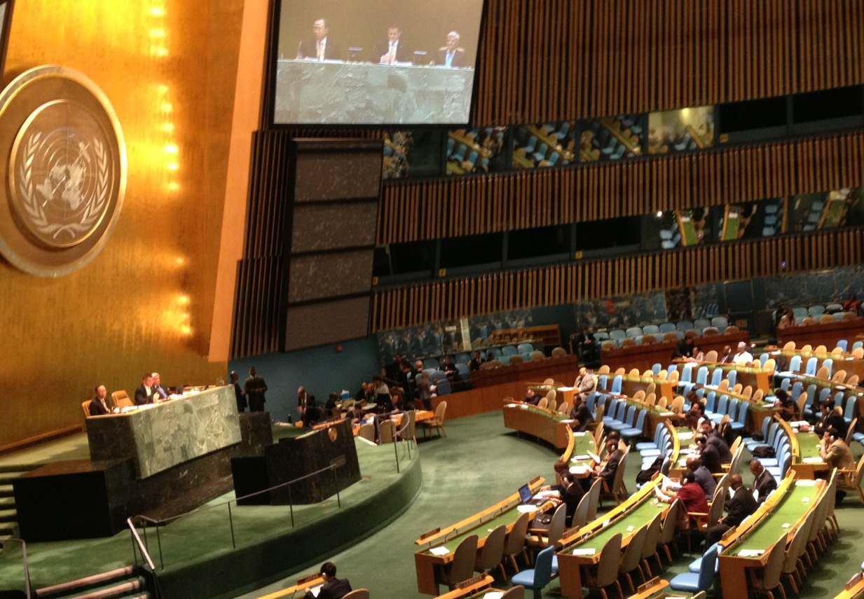 At the United Nations, sitting in on a debate regarding peaceful conflict resolution in Africa.