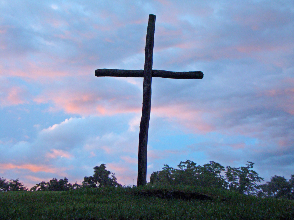 Old Cross against Blue Sunset.JPG