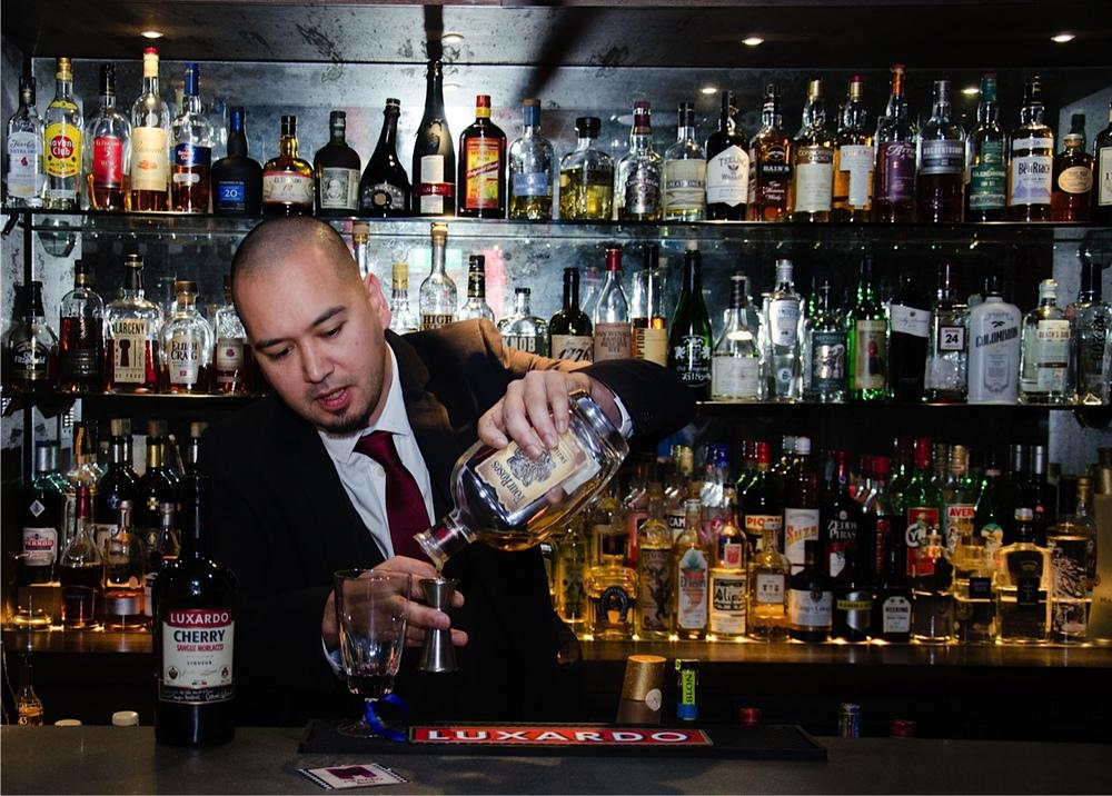 Mister G making The DSC Luxardo Cocktail.jpg