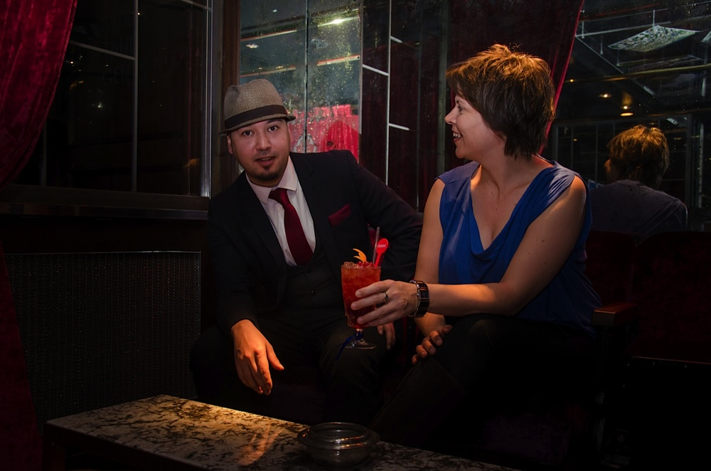 Mixologist Mister G and Artistic Director Andrea Cockerton with The DSC Luxardo Cocktail.jpg