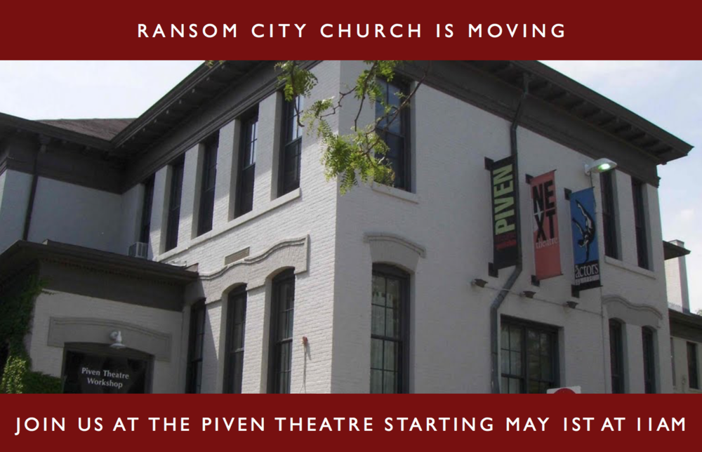 STARTING ON MAY 1ST AT 11AM WE WILL BE MEETING AT THE PIVEN THEATRE IN EVANSTON