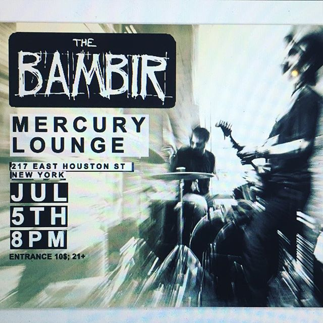 LAST MINUTE SHOW @ MERCURY LOUNGE_NY/ JULY 5th! ;) SPREAD THE WORD 🗣