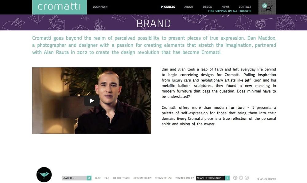 Banner Design for Cromatti Furniture