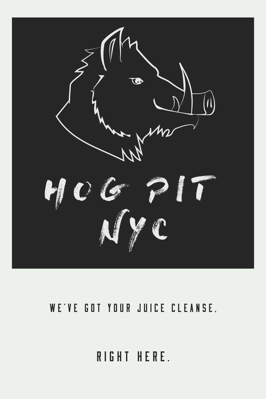 Branding Material Hog Pit NYC