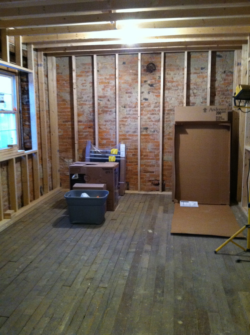 """The """"Brick Room"""" Before Drywall"""