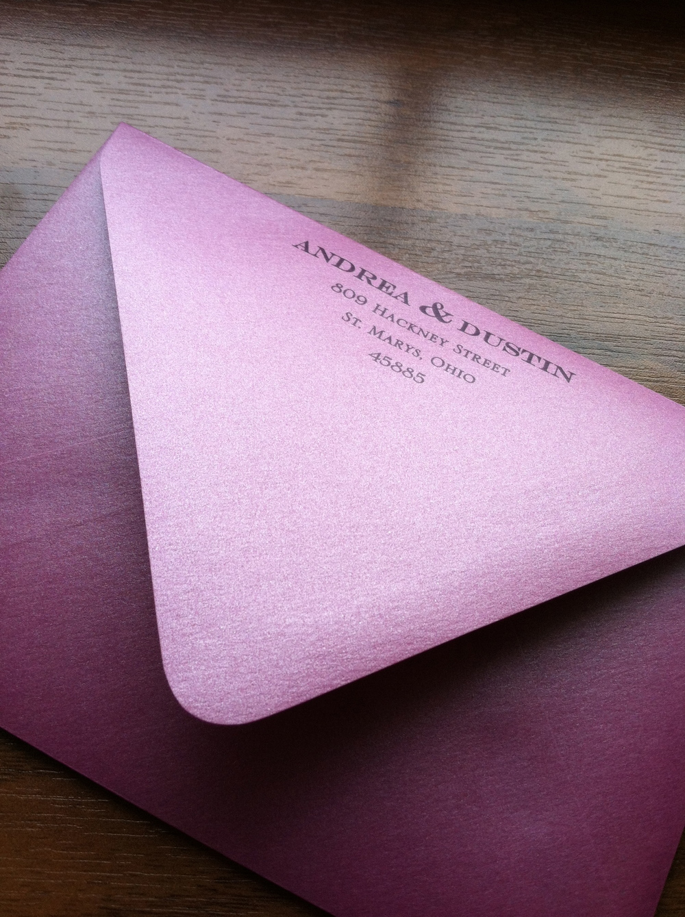 Another fun envelope.