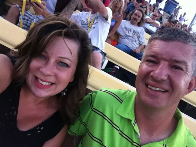 Here we are at the track in Kentucky
