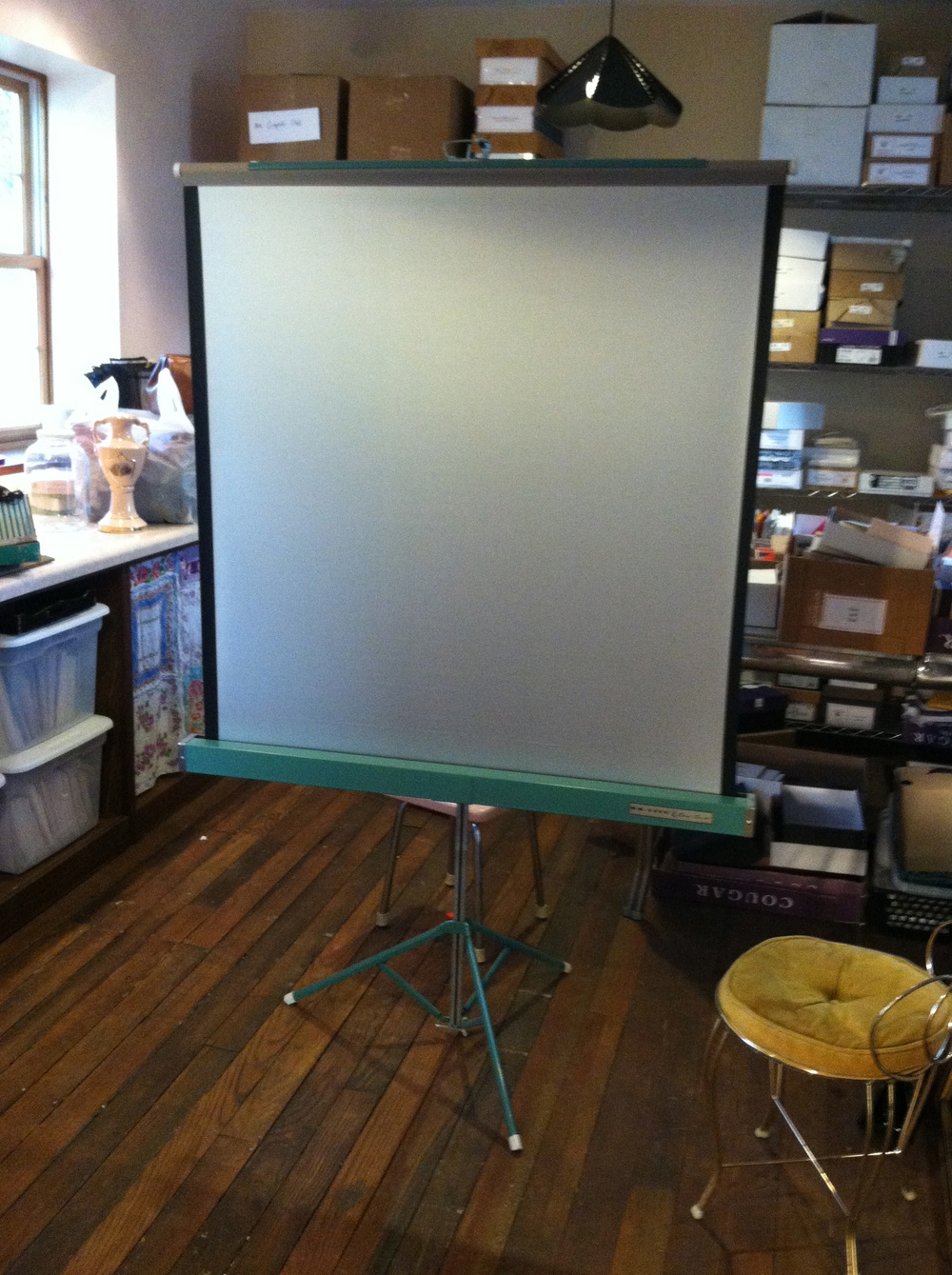 A perfectly good projector screen