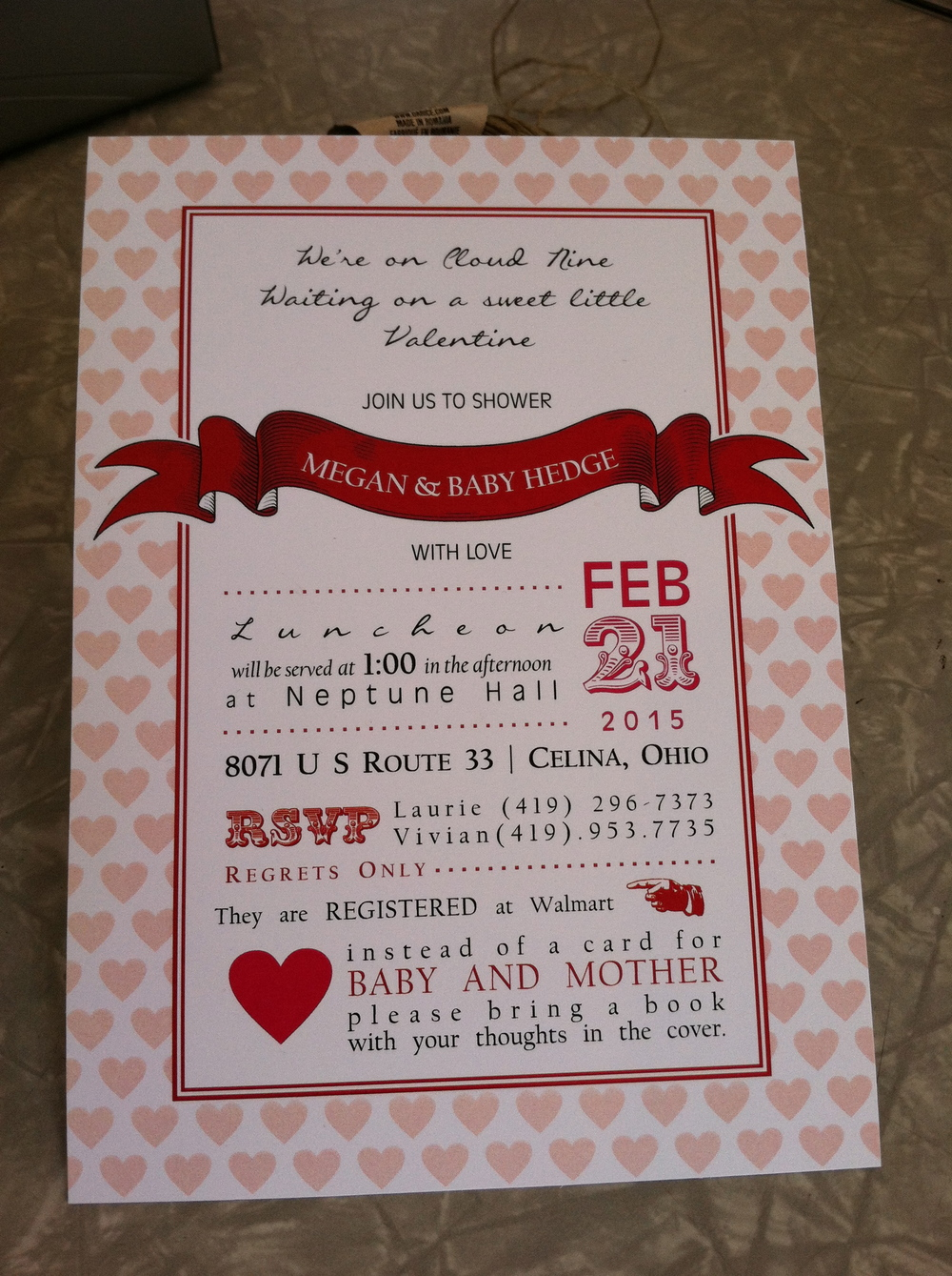 Valentines Theme Shower