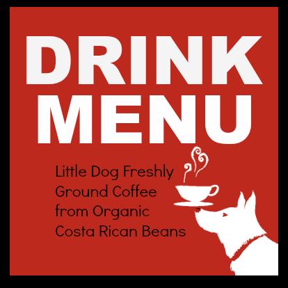 Little Dog Coffee Shop Drink Menu