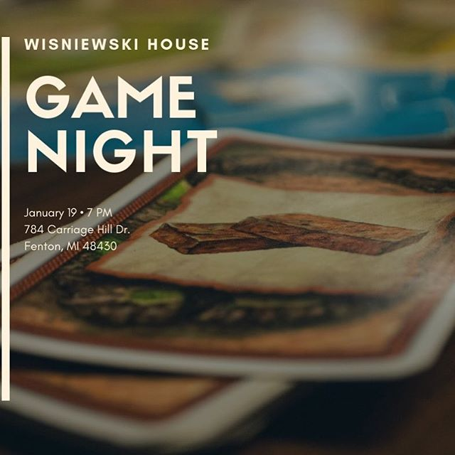 THIS SATURDAY, January 19th, is the monthly GAME NIGHT CONNECT GROUP. Come join us for some fellowship, fun games, and Ping Pong! It is going to be a BLAST! It starts at 7PM at the Wisniewski's House (784 Carriage Hill Dr. Fenton, MI 48430)