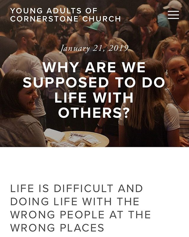 ‪Why are we supposed to do life with others?‬ ••• Click link in our bio for helpful resources. 🙏🏻