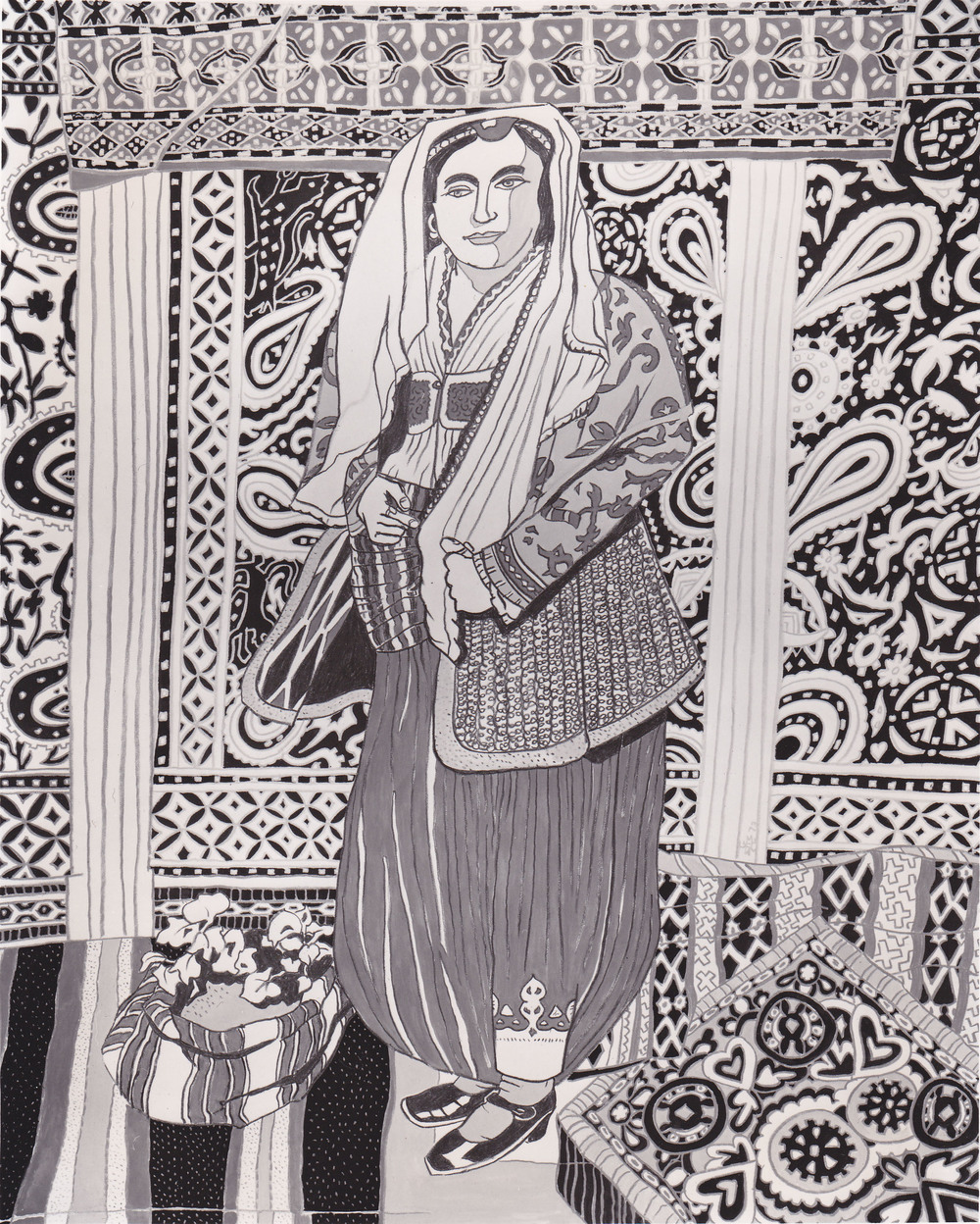 Macedonian Woman, ?, silkscreen, 1973.jpg