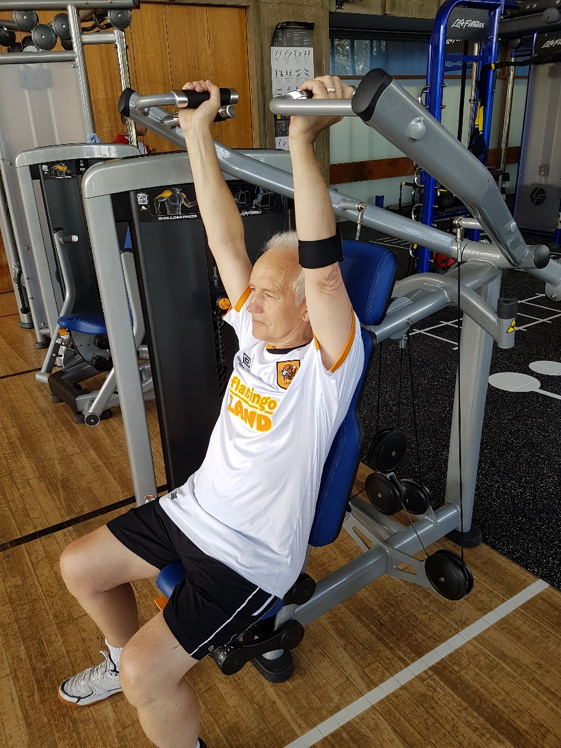 Figure 4. Measuring power in the shoulder press exercise