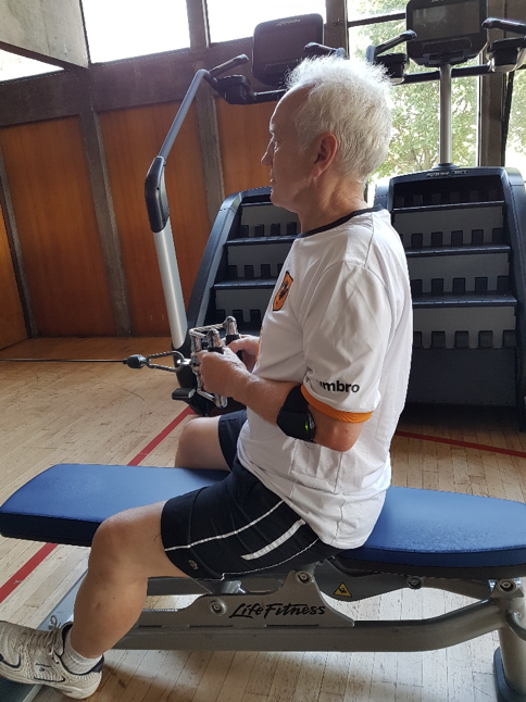 Figure 5. Measuring power in the seated row exercise