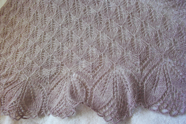 August Project Of The Month Dawns Haruni Shawl Anzula
