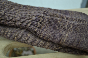 Up next - the leg, the cable, and the cuff. Rebecca's already finished one of her Coco socks!